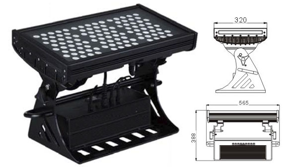 Guangdong ledde fabriken,Led-strålkastare,500 W kvadratisk IP65 DMX LED-väggbricka 1, LWW-10-108P, KARNAR INTERNATIONAL GROUP LTD