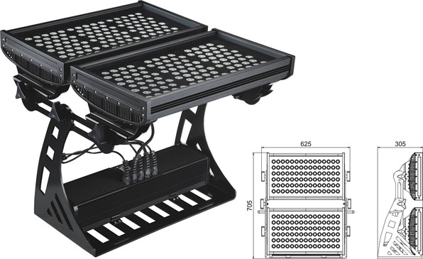 Warshad hogaaminaysay Guangdong,Nalalka laydhka nalalka LED,250W Square IP65 RGB iftiinka daadka 2, LWW-10-206P, KARNAR INTERNATIONAL GROUP LTD