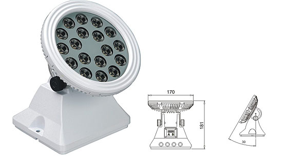Led drita dmx,Dritat e rondele me ndriçim LED,25W 48W Sheshi me rondele mur LED 1, LWW-6-18P, KARNAR INTERNATIONAL GROUP LTD