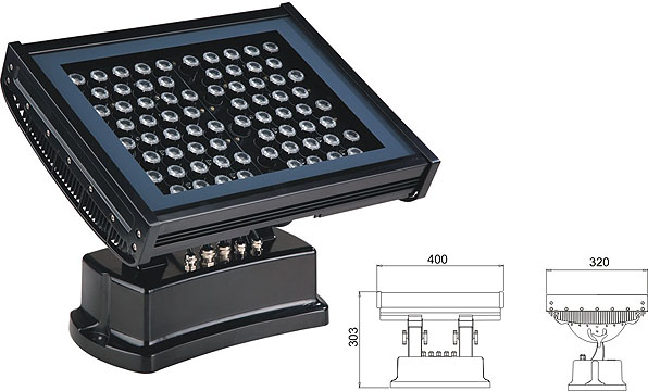 Guangdong ledde fabriken,LED-väggbrickor,108W 216W Square LED-översvämningsljus 2, LWW-7-72P, KARNAR INTERNATIONAL GROUP LTD