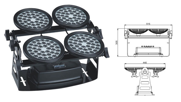 Guangdong ledde fabriken,led-strålkastare,155W LED översvämningsljus 1, LWW-8-144P, KARNAR INTERNATIONAL GROUP LTD