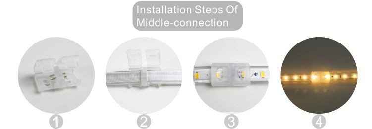 Guangdong ledde fabriken,ledad remsa,240V AC Ingen Wire SMD 5730 LED ROPE LIGHT 10, install_6, KARNAR INTERNATIONAL GROUP LTD