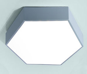 Guangdong ledde fabriken,LED-downlight,15W Hexagon led taklampa 7, blue, KARNAR INTERNATIONAL GROUP LTD