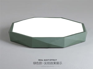 Guangdong ledde fabriken,LED-projekt,24W kvadrat ledd taklampa 5, green, KARNAR INTERNATIONAL GROUP LTD