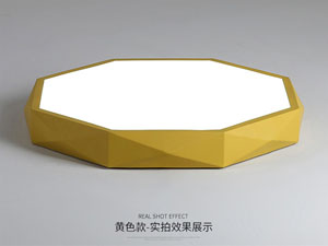 Guangdong ledde fabriken,Macarons färg,36W Square ledde taklampa 7, yellow, KARNAR INTERNATIONAL GROUP LTD
