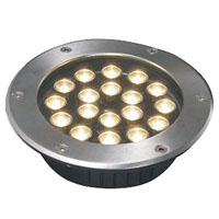 Guangdong ledde fabriken,LED underjordisk ljus,3W cirkulära begravda lampor 6, 18x1W-250.60, KARNAR INTERNATIONAL GROUP LTD