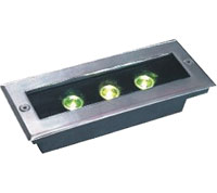Guangdong ledde fabriken,LED-majsljus,12W Square Buried Light 6, 3x1w-120.85.55, KARNAR INTERNATIONAL GROUP LTD
