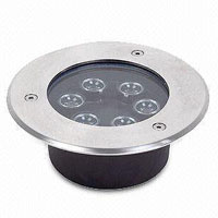 Guangdong ledde fabriken,LED-gatubelysning,6W Square Buried Light 3, 6x1W, KARNAR INTERNATIONAL GROUP LTD